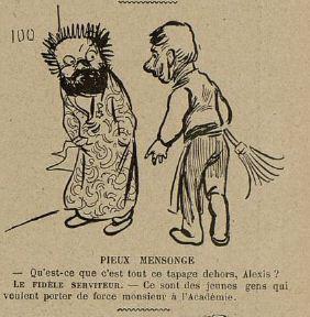 18 Le Rire 29 janvier 1898 Zola et l'Académie à vérifier