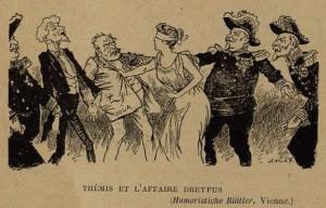32 Le Rire 19 février 1898 Thémis et l'affaire Dreyfus