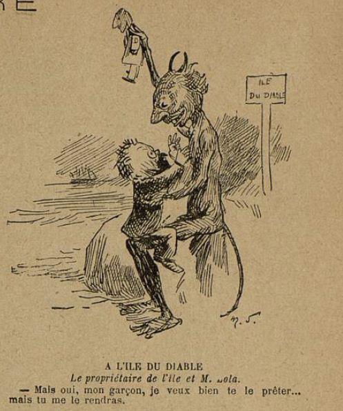Image - A l'Ile du Diable - Le propriétaire de l'île et M. Zola