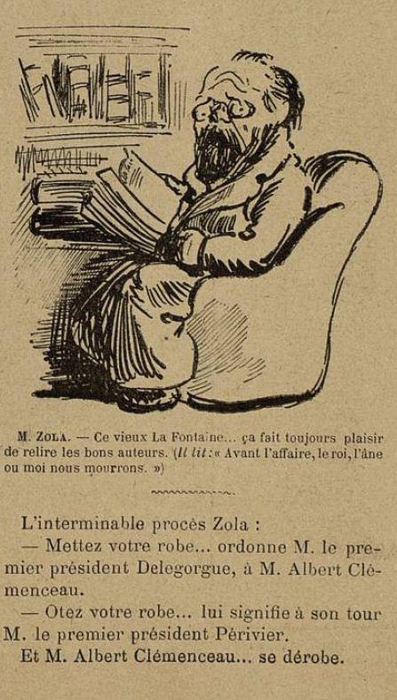 Image - Zola lit La Fontaine