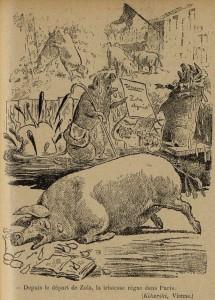63 Le Rire 13 août 1898 Départ de Zola