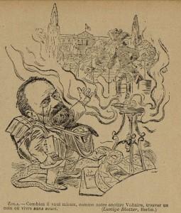 64 Le Rire 13 août 1898 Zola et Voltaire