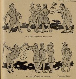 65 Le Rire 13 août 1898 Picquart et Esterhazy