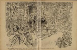 70 Le Rire 28 janvier 1899 Défilé des ligues