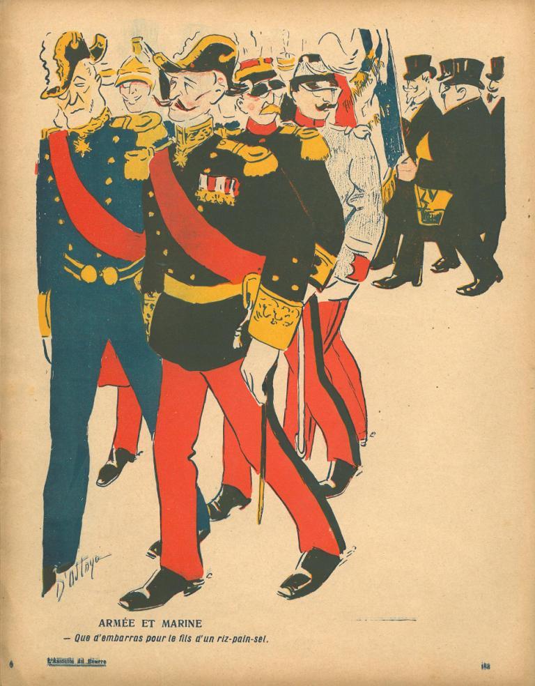 Image - Panthéonisation de Zola : Armée et Marine