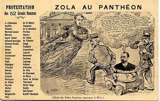 Image - Protestation des 52 Grands hommes contre l'entrée de Zola au Panthéon