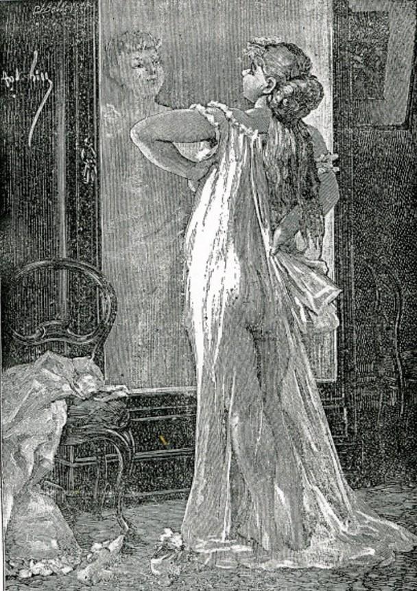Image - Nana se regarde dans le miroir
