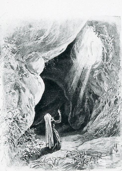 Image - Bernadette et la première apparition de la Vierge