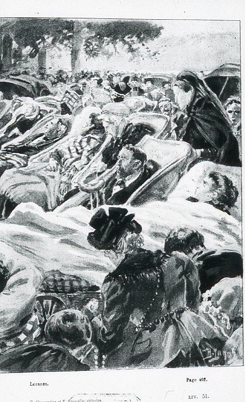 Image - Les malades allongés