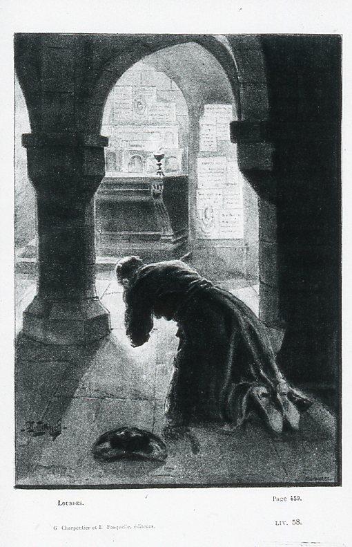 Image - Pierre à genoux dans la crypte