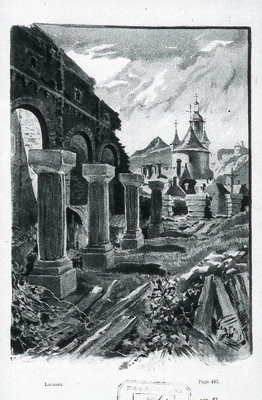 Image - L'église en ruine de l'abbé Peyramale