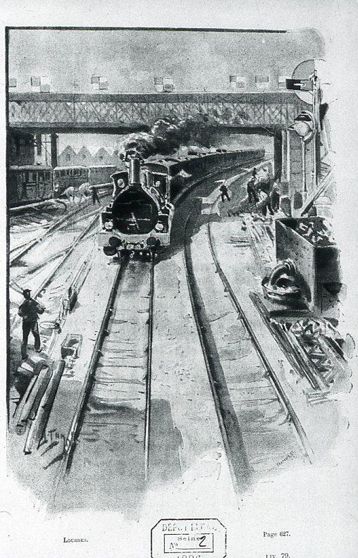 Image - Le train entre dans Paris