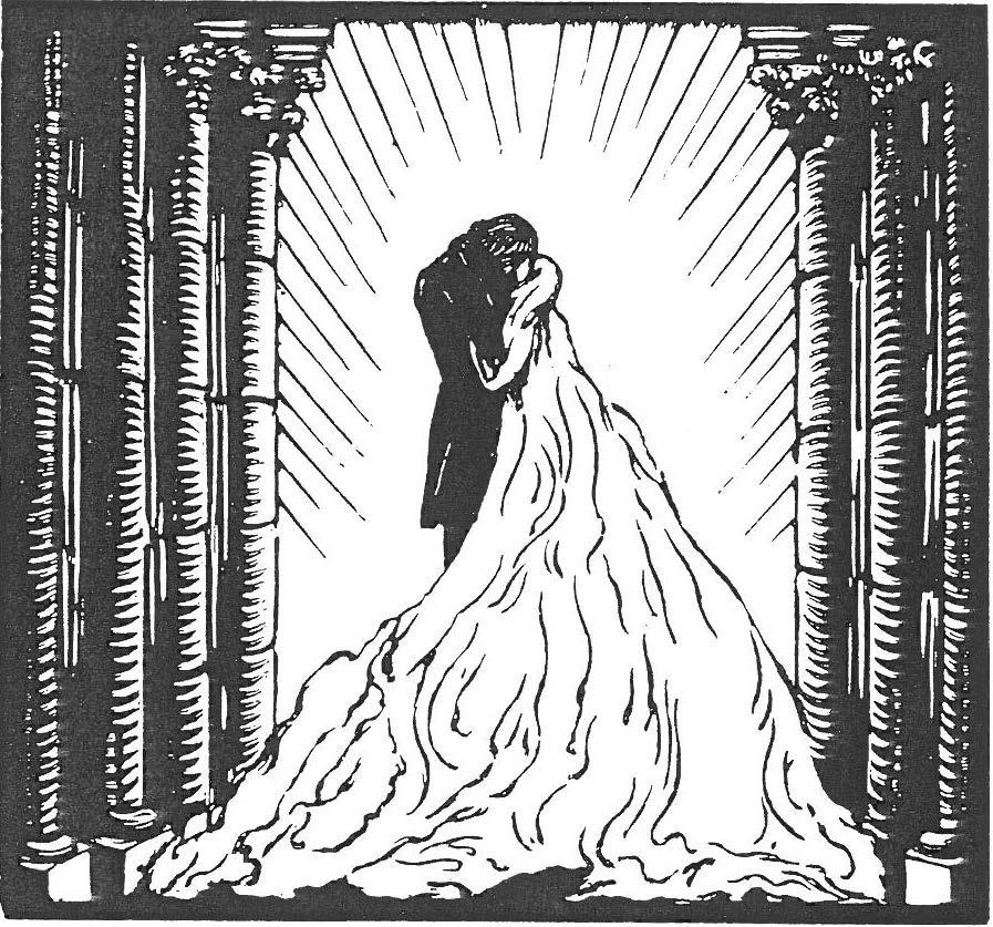 Image - Angélique et Félicien s'embrassent sur le seuil de la cathédrale