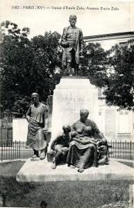 Statue Zola à Paris