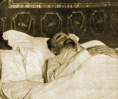 Image - Emile Zola sur son lit de mort