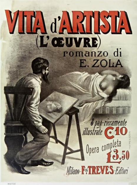 Image - Affiche pour la parution de L'Œuvre en Italie