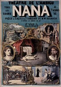 affiche Nana au théâtre