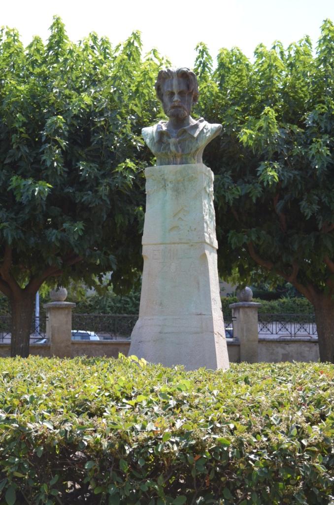 Image - Buste d'Emile Zola par Solari, au Parc Jourdan d'Aix-en-Provence