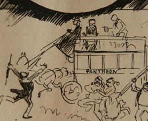 caricature 1055 Panthéon Robida