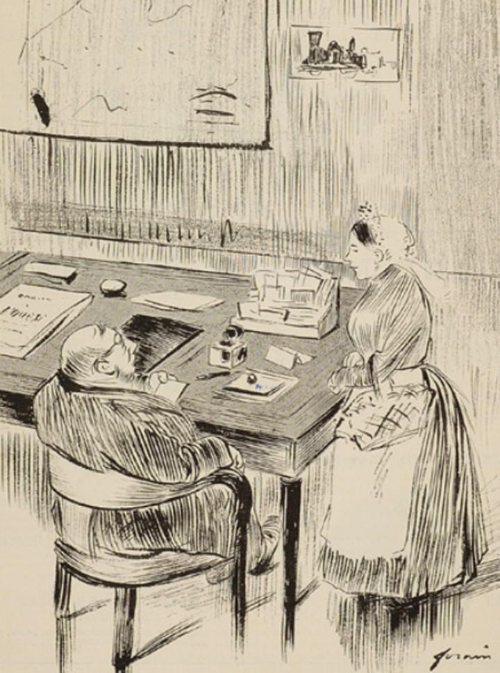 """Image - Emile Zola,<em> La Bête humaine</em> et l'Acamédie française"""" /></a></p> </div><h3>Commentaires</h3><p>Cette caricature fait allusion à la recherche constante du """"document humain"""" de Zola et à deux événements : il vient d'obtenir l'autorisation de voyager sur une locomotive de la Compagnie de l'Ouest pour préparer<em> La Bête humaine</em> et il envisage de se présenter à l'Académie française.</p><h3>Auteur</h3><p>Jean-Louis Forain (1852-1931)</p><h3>Date</h3><p>16 mars 1889</p><h3>Origine</h3><p><em>Le Fifre</em>, 16 mars 1889</p><h3>Mots-clés</h3><ul class="""