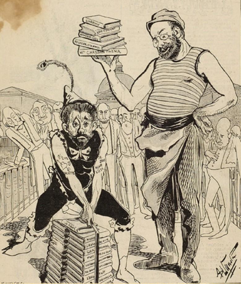 Image - Emile Zola, Pierre Loti et l'Académie française