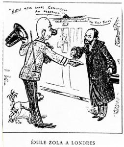 caricature 12 Zola à Londres