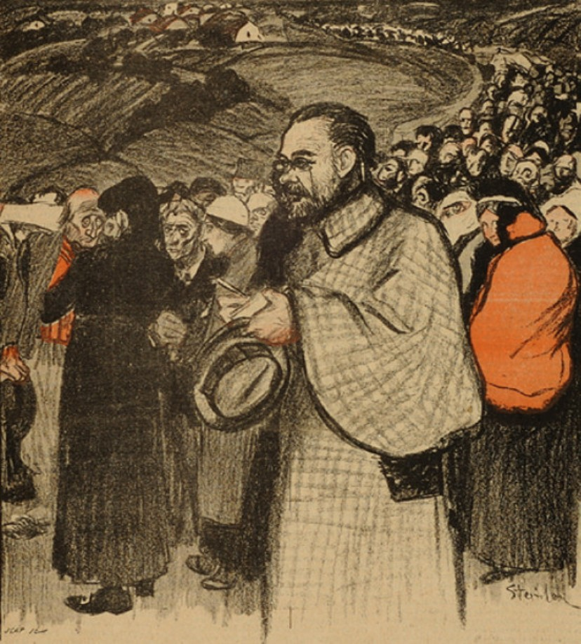 Image - Emile Zola au pèlerinage de Lourdes