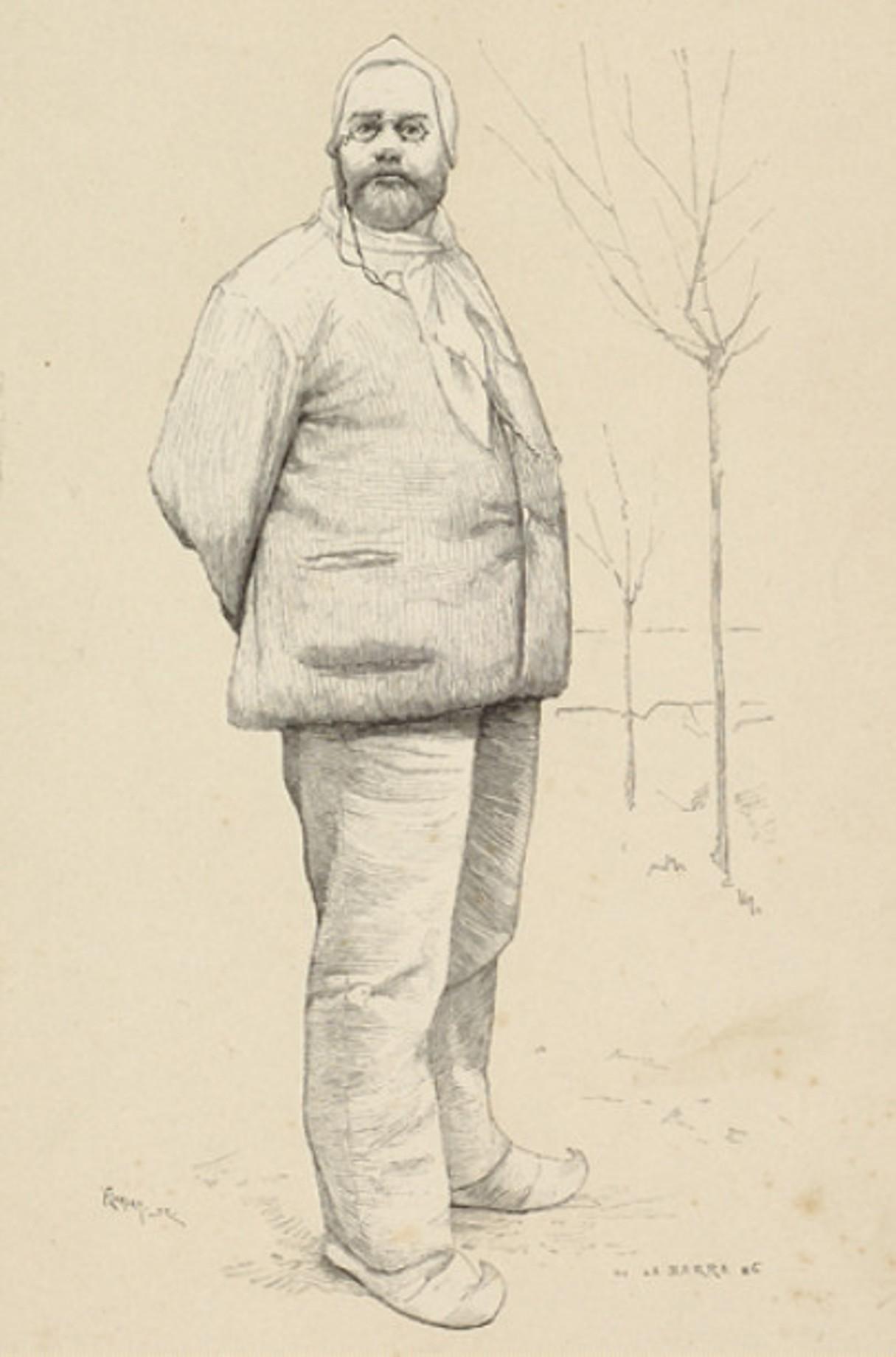 Image - Emile Zola en paysan
