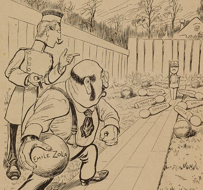 Image - Emile Zola et le jeu de quilles
