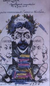 caricature 35 Zola au Panthéon