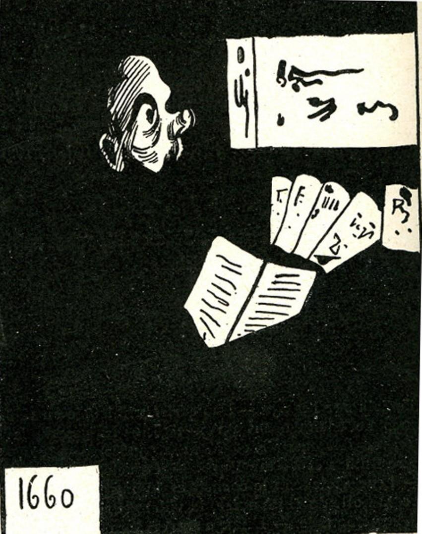 Image - Caricature du portrait de Zola par Edouard Manet