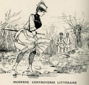 caricature 391 Moderne controverse littéraire