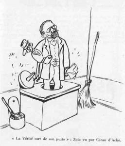 caricature 618 La vérité sort de son puits Caran d'Ache_0