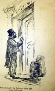 caricature 734 Académie française