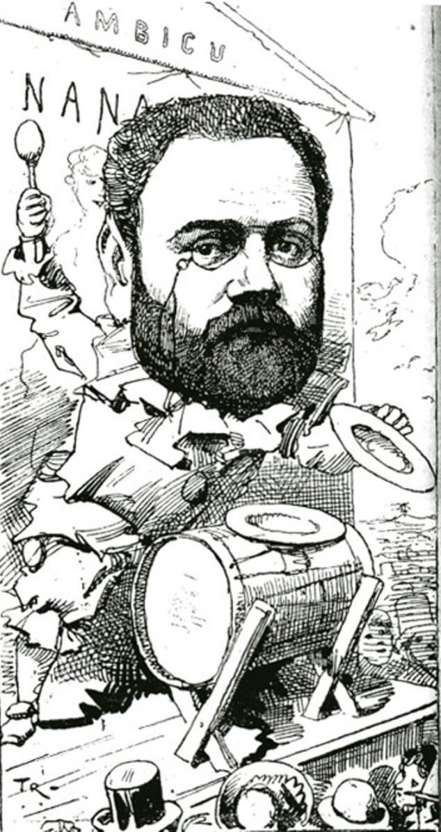 """Image - <em>Nana </em>au théâtre de L'Ambigu"""" /></a></p> </div><h3>Commentaires</h3><p>Zola déguisé en bateleur rassemble la foule devant le théâtre de l'Ambigu pour une représentation de <em>Nana</em>. Le roman avait été adapté pour le théâtre par William Busnach et représenté du 29 janvier 1881 au 31 mai 1881</p><h3>Auteur</h3><p>TRI</p><h3>Date</h3><p>6 août 1891</p><h3>Origine</h3><p><em>La Vie populaire</em>, 6 août 1891</p><h3>Mots-clés</h3><ul class="""