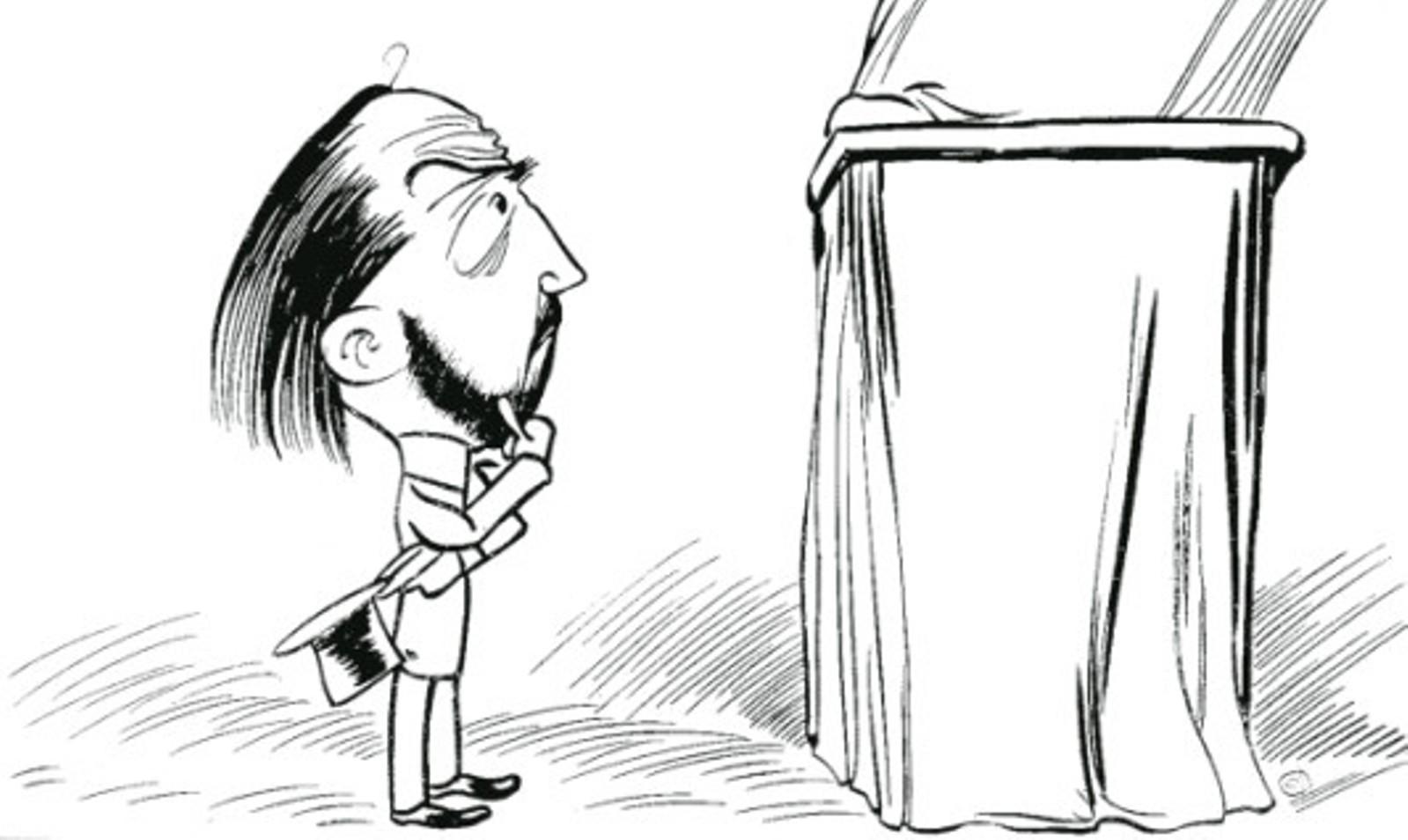 Image - Devant la statue, les efforts d'intellectualité