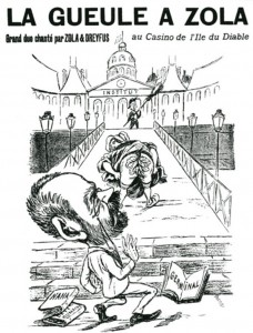 caricature 843 La gueule à Zola_0