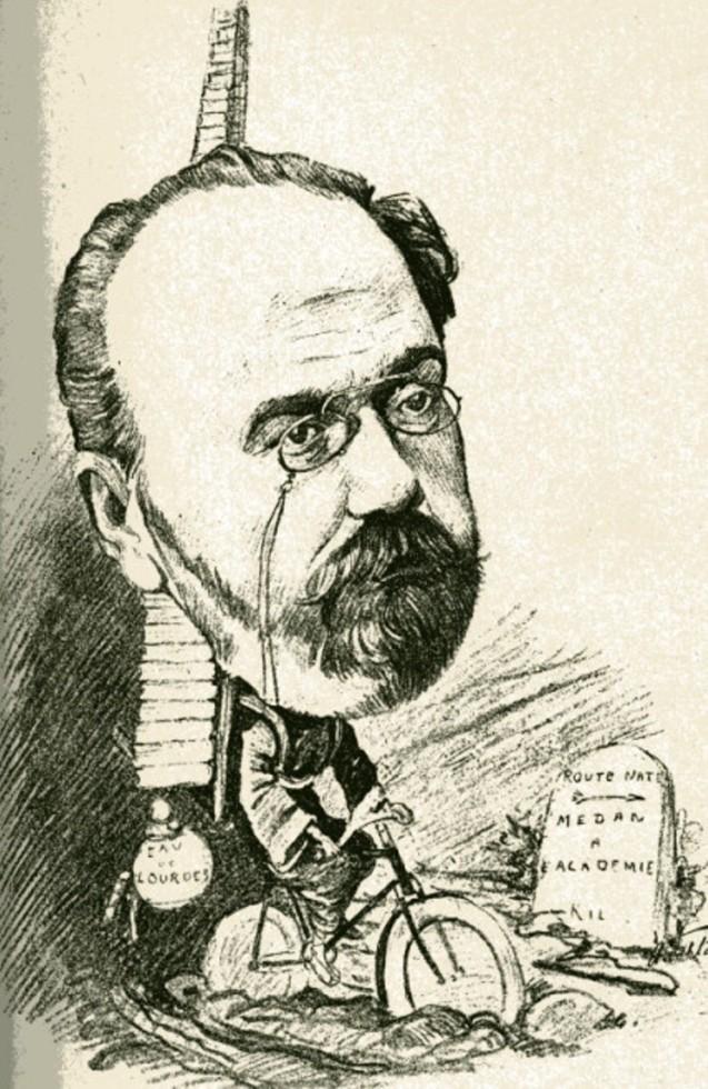 Image - Emile Zola en vélo vers l'Académie française