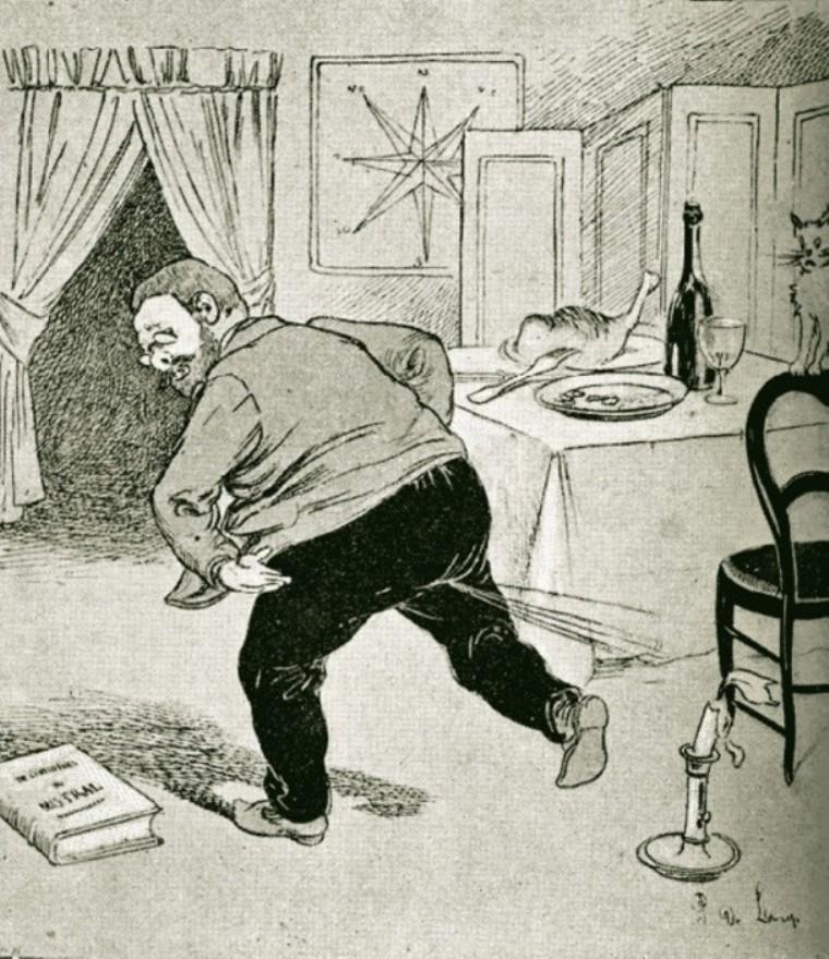 """Image - Un clou soi-disant littéraire : <em>La Terre</em>"""" /></a></p> </div><h3>Commentaires</h3><p>Ce dessin fait ici allusion à certaines scènes pétomanes du roman de Zola, <em>La Terre,</em> paru en 1887 et qui avait fait scandale (voir notamment le personnage de Jésus-Christ).</p><h3>Auteur</h3><p>P. de Loup</p><h3>Date</h3><p>30 octobre 1887</p><h3>Origine</h3><p><em>Le Clou</em>, 30 octobre 1887</p><h3>Mots-clés</h3><ul class="""