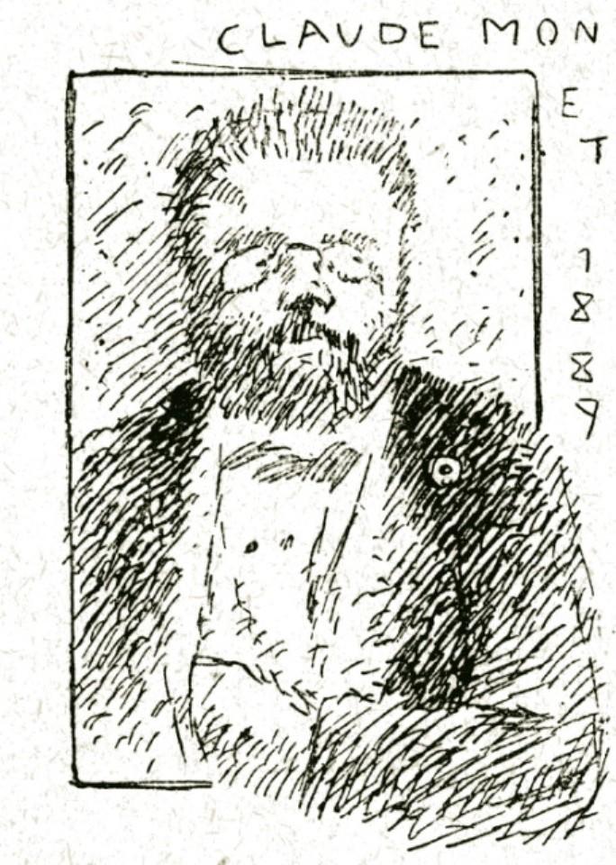 Image - Parodie d'un portrait de Zola par Monet