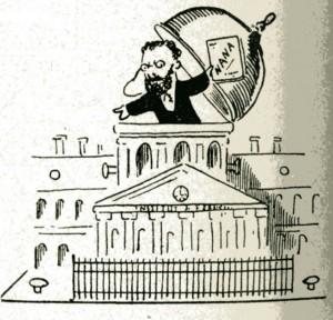 caricature 960 Académie française Marais