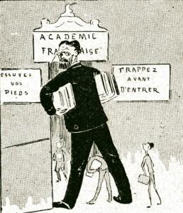 caricature 962 Académie française Marais