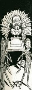caricature 963 Zola à Londres