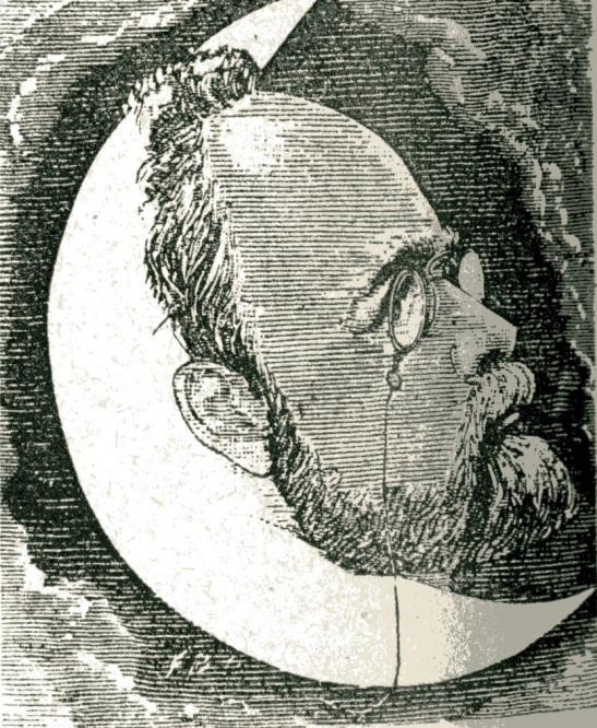 Image - Emile Zola dans un croissant de lune