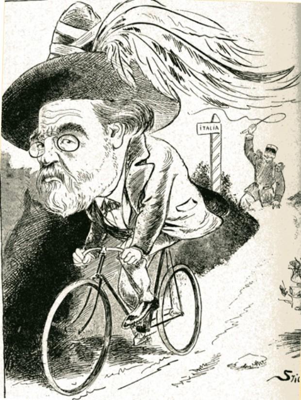 Image - Zola s'enfuit en vélo