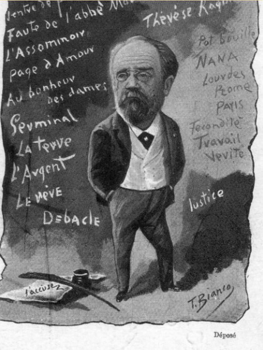 Image - Portrait charge d'Emile Zola