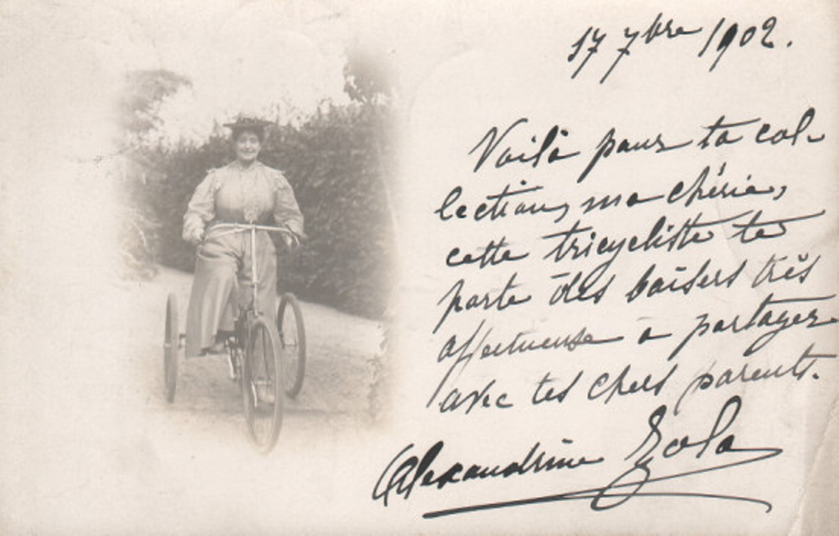 Image - Madame Zola à bicyclette
