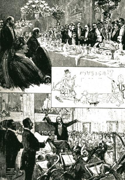 Image - Le banquet des journalistes en l'honneur de Zola, à Rome