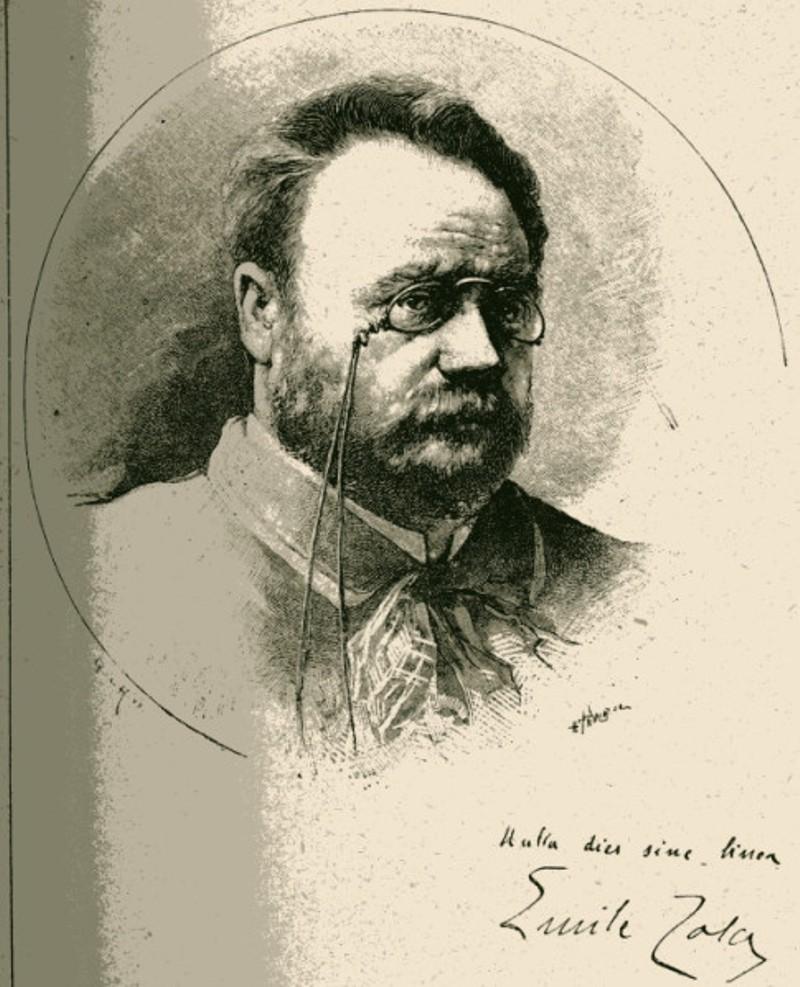 Image - Emile Zola dessiné d'après nature