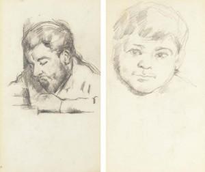 dessin 250 Zola par Cézanne